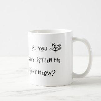 Are You Fluffy Kitten Me Mug