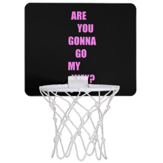 Are you gonna go my way ? mini basketball hoop