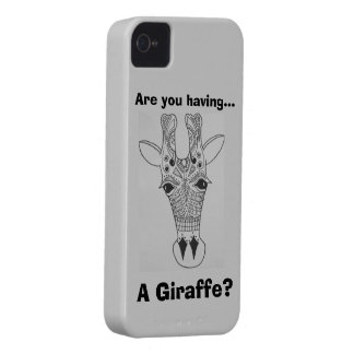 Are you having a giraffe? iphone 4 case