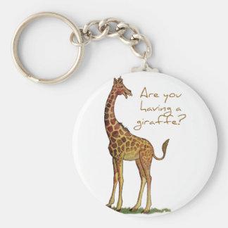 Are You Having a Giraffe? Keychain