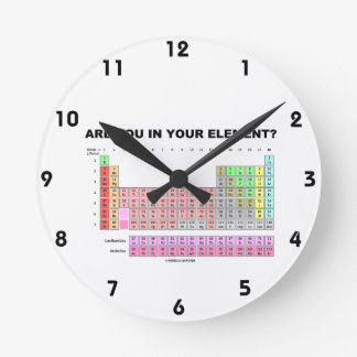 Are You In Your Element? Periodic Table Humor Wall Clocks