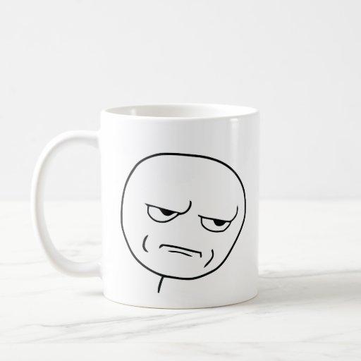 are you kidding me rage face meme basic white mug zazzle