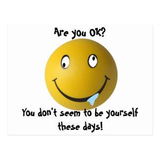 Are you OK Postcard