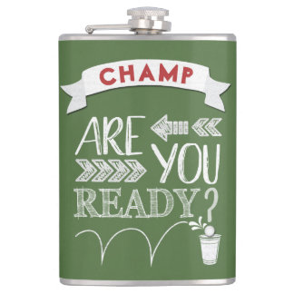 Are You Ready? Beer Pong Football-Styled CHAMP Hip Flask