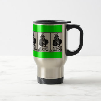 ARE YOU READY FOR A ZOMBIE ATTACK TRAVEL MUG