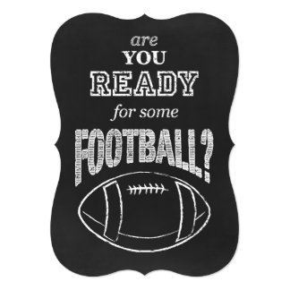 """are you ready for some football? 5"""" x 7"""" invitation card"""