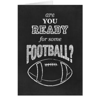 are you ready for some football? note card