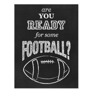 are you ready for some football? postcard