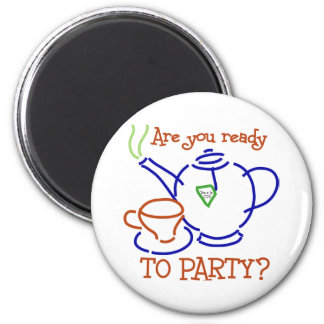 Are You Ready to Party? 2 Inch Round Magnet