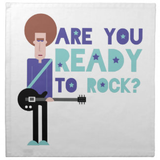 Are You Ready To Rock? Cloth Napkins