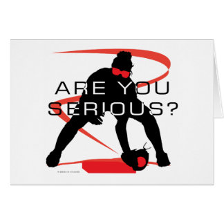 Are you serious Red Fielder Softball Greeting Card