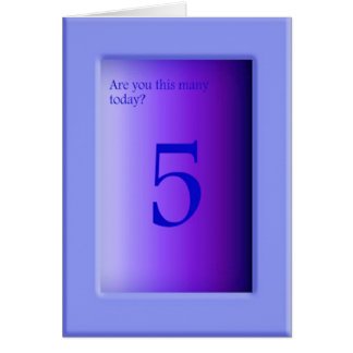 Are you this many today? card