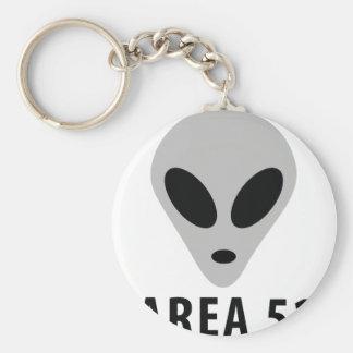 area 51 - alien head basic round button keychain