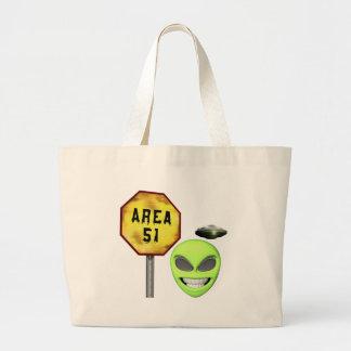 Area 51 Aliens Large Tote Bag