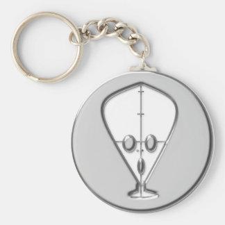 area 51 basic round button keychain