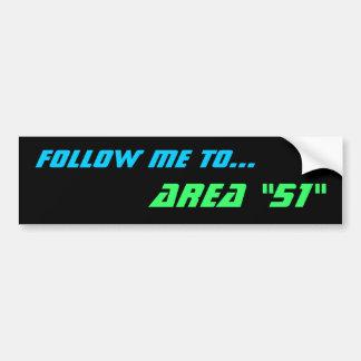 """AREA """"51"""" bumper sticker"""
