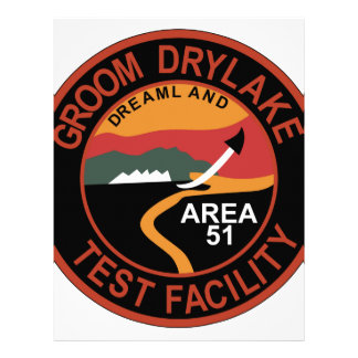 Area 51 Groom Dry Lake Hangar Patch Personalized Letterhead