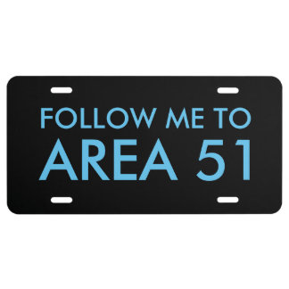 AREA 51 License Plate