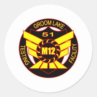 Area 51 Majestic 12 Round Sticker