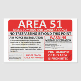 Area 51 Sign Sticker