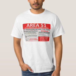 Area 51 Sign T-Shirt