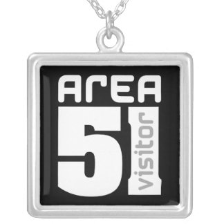 Area 51 Visitor Silver Plated Necklace