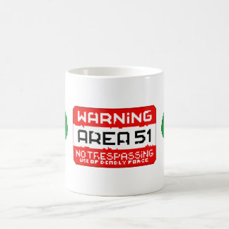 Area 51 Warning Coffee Mug