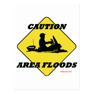 Area Floods Quickly Postcard
