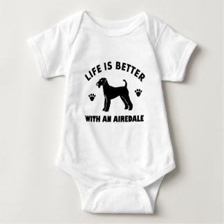 aredale terrier dog design baby bodysuit