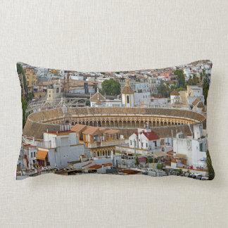 Arena for bullfighting Maestranza. Lumbar Pillow
