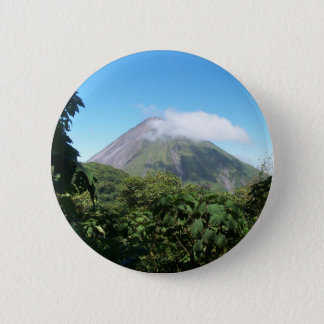 arenal volcano 2 inch round button