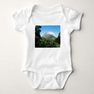 arenal volcano baby bodysuit