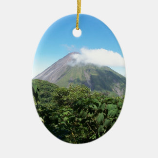arenal volcano ceramic ornament