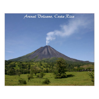 Arenal Volcano Costa Rica Poster