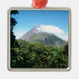 arenal volcano metal ornament