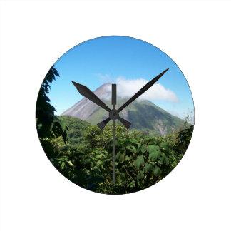 arenal volcano round clock