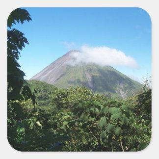 arenal volcano square sticker