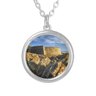 Areosa fortress silver plated necklace