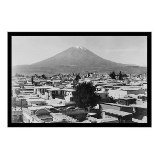 Arequipa and Mount Misti in Peru 1890 Poster