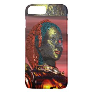 ARES /CYBORG PORTRAIT IN SUNSET Science Fiction iPhone 8 Plus/7 Plus Case