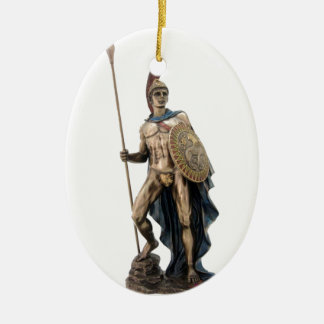 ARES GREEK WARRIOR GOD STATUE CERAMIC ORNAMENT