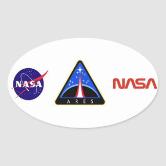 Ares Launch Vehicle Oval Sticker