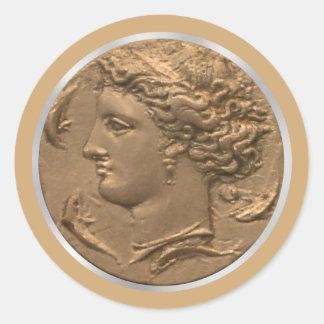 Arethusa Tetradrachm Classic Round Sticker