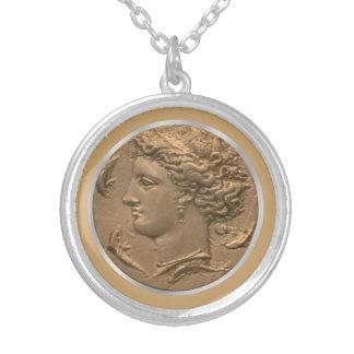 Arethusa Tetradrachm Silver Plated Necklace