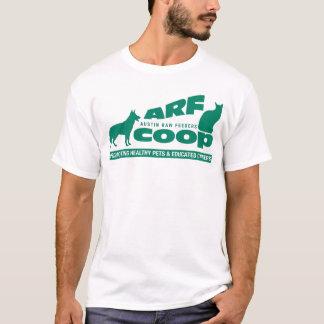 ARF Co-op: green on white T-Shirt