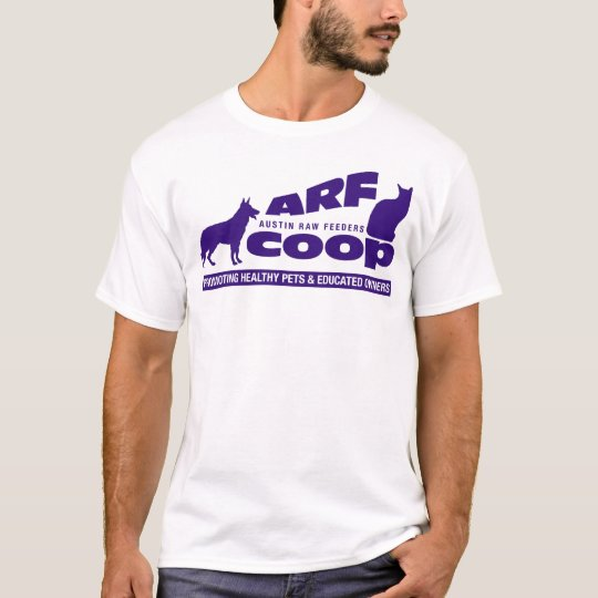 ARF Co-op: purple on white T-Shirt