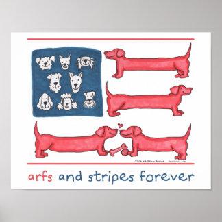 Arfs & Stripes Forever Poster
