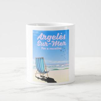 argelès-sur-mer France travel poster Large Coffee Mug