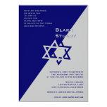 Argent de bleu de Blake d'invitation de Mitzvah de