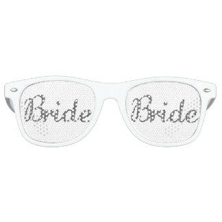 Argent de jeune mariée de scintillement lunettes de soleil